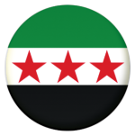 Syria 1932-1958 Country Flag 25mm Flat Back